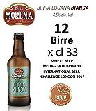 12 X Birra Morena Lucana Bianca 4,5% alc vol - CL 33 -Wheat Beer - Blanche -Artigianale - Craft Beer - Italiana - Premiata -Miglior Regalo Eventi Natale Pasqua