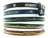 HARRY POTTER Libros casa Escuela Hogwarts Brazalete de Goma Casas 5 Pack