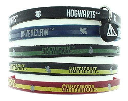 HARRY POTTER Libros casa Escuela Hogwarts Brazalete de Goma Casas 5 Pack 11