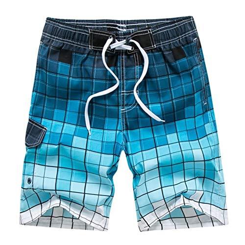 MJTCJY Quick Dry Herren Badeshorts Plus Size Herren Bademode Badehose Badeanzug Bermuda Surfing Badeanzug Board Short Pants Silber (Color : 1805 Blue, Size : M)
