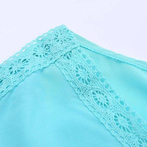 JXLOULAN Frauen mit V-Ausschnitt Loser-Strand-Kleid-Badebekleidung Vertuschung Blau