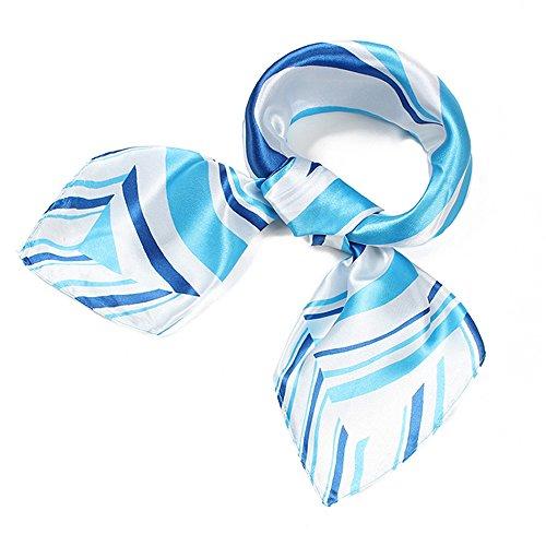 UK_Stone Damen Streifen Muster Gross Bandana Schal (Die 60 Damen Flugbegleiterin Kostüm)