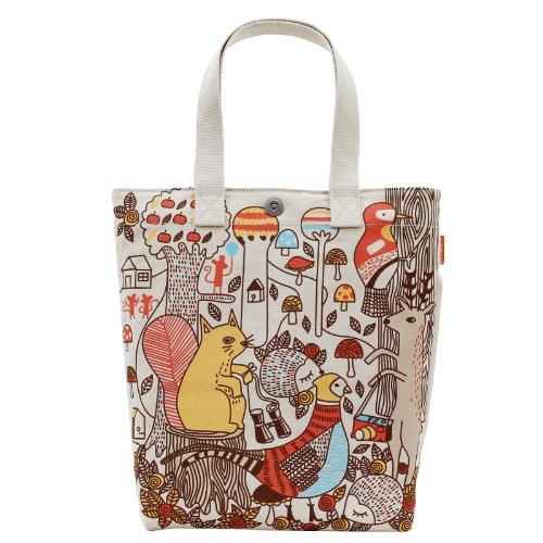 Print Hobo Bag Handtasche (Canvas Tasche für Büro Schule Reise Strand   Damen Schultertasche mit Coolem Motiv Wald Tiere   große Handtasche für Alltag   Veganes Hobo Bag aus Bio Baumwolle (Segeltuch)   Robuste Umhängetasche)