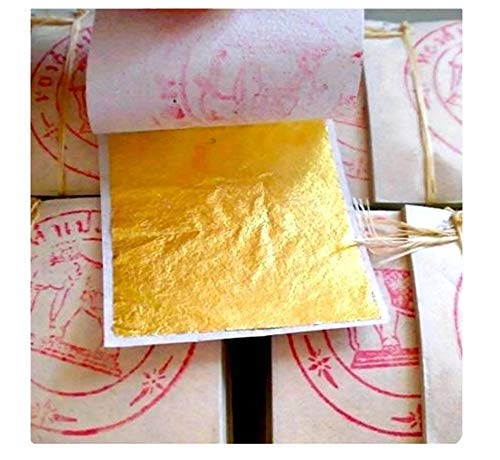 20 fogli di foglia oro - 999/1000 purezza - 24 carati - oro puro - commestibili