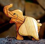 Spardose Elefant Holz Tier Afrika Massiv Handarbeit Dekoration Elephant
