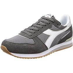 Diadora Malone, Zapatillas de Gimnasia Para Hombre, Gris (Gr Acciaio Gr Alluminio Bianco), 42 EU