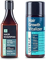Ustraa Anti Dandruff Hair Shampoo - 200ml and Ustraa Hair Growth Vitalizer - 100 ml