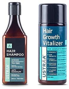 Ustraa Anti Dandruff Hair Shampoo - 200ml and Ustraa Hair Growth Vitalizer - 100 ml