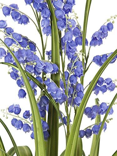 artplants – Künstliche Glockenblume mit Schilfgras, 5 Blüten-Rispen, lila, 105 cm – Künstliches Gras/Kunstblumen