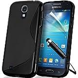 Supergets® Samsung Galaxy S4 mini I9190 Wave Hydro Gel Case Covers and Mini senstive Stylus - Black