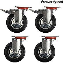 Forever Speed Ruedas Pivotantes de Transporte Ø 100mm Ruedas Giratorias para Carritos Muebles Con 2 Freno Negro Lote de 4 Soportan 70 kg por Rollo