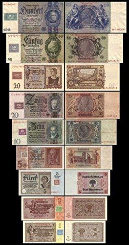 *** 1 - 100 DDR Mark - Kuponausgabe 1948 - 9 Banknoten - Alte DDR Währung - Pick 01 - 07 - Reproduktion ***