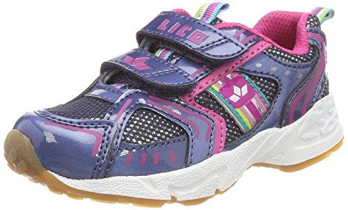 Lico Mädchen Silverstar V Multisport Indoor Schuhe, Blau/Pink, 27 EU