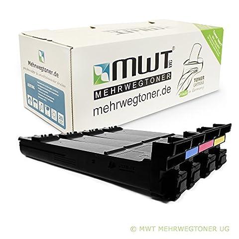 4x MWT Toner Cartridge for Konica Minolta Magicolor 4650 4690 4695 MF EN DN replaces QMS 4650