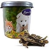 Lyra Pet 5 kg Rindereuter Euter getrocknet Kausnack Hund Belohnung in 30 L Tonne