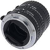 mcoplus Auto Focus AF Macro Extension Tube Set en métal Anneau adaptateur pour Canon EOS EF/EF-S Appareil Photo Reflex–Noir