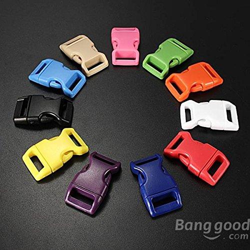 Preisvergleich Produktbild Moppi 15mm Kunststoff Contoured Sicherheitsschnallen Taschen Riemenverbinder
