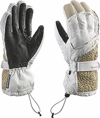 Leki Damen Ski-Handschuhe »Canny S« Weiß-Sand