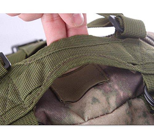 Outdoor Tarnung Fans Militärrucksack Wandern Tasche Schulter 3P Taktischer Rucksack Bergsteigen D
