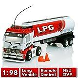 RC Lastwagen Lastenzug Sattelschlepper Zugmaschine Transporter mit Anhänger LKW in 4 verschiedenen Modellen (Weiss-Silo)