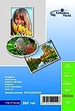 500 Blatt EtikettenWorld Fotopapier 10x15 cm 230g/qm hochglänzend wasserfest