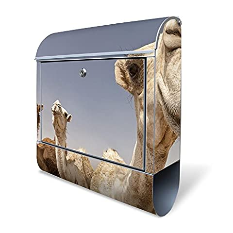 Large Wall mounted Letterbox 38x43,5x12,5 cm high quality polished stainless steel 18/0 Mailbox Postbox motive