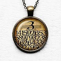 Math Mathematical Pi 3.14159 Mathematische Anhänger und Halskette