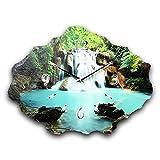 Wasserfall Luxus Designer Wanduhr Funkuhr aus Schiefer *Made in Germany leise ohne ticken WS208FL