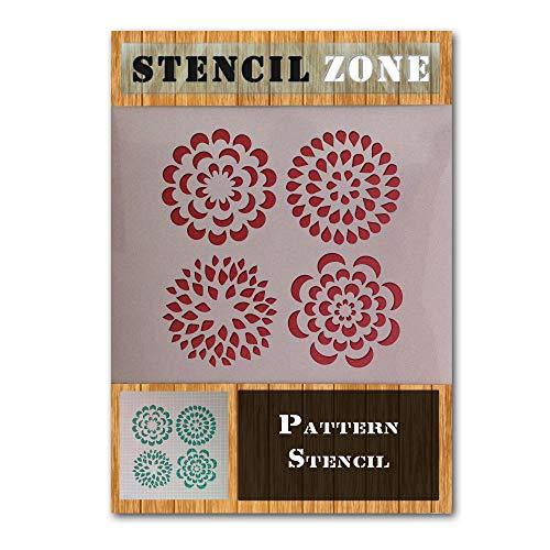 STENCIL ZONE Muster Blume Pflanze Druck Mylar Airbrush-Malerei Wand-Kunst-Handwerk-Schablone Zwei-M