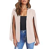 Ybenlover, blazer da donna con maniche aperte sul davanti, con tasche, giacca robusta, ideale per il lavoro