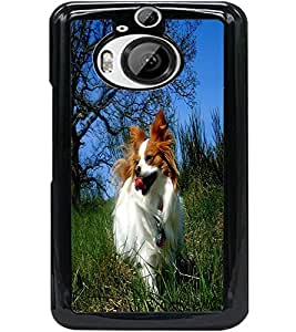 ColourCraft Cute Dog Design Back Case Cover for HTC ONE M9 PLUS