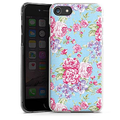 Apple iPhone X Silikon Hülle Case Schutzhülle Retro Frühling Flower Hard Case transparent