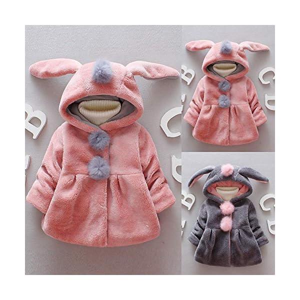 Amlaiworld Abrigos Bebe niñas,Chaqueta con Capucha de Orejas de Conejo de Venonat para niños niñas Bebé Ropa Bebé Otoño… 2
