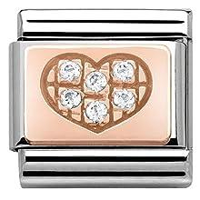 Nomination – Charm da Donna in Acciaio Inox con zirconi Trasparente – 43030201