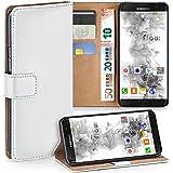 Pochette OneFlow pour Samsung Galaxy S7 Edge housse Cover avec fentes pour cartes | Flip Case étui housse téléphone portable à rabat | Pochette téléphone portable étui de protection accessoires téléphone portable protection bumper en PEARL-WHITE