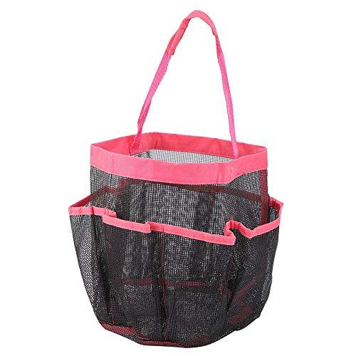Mumusuki Convinent Folding Portable mehrere Tasche Mesh Tasche Net Storage Organizer Badezimmerzubehör(玫 玫) -