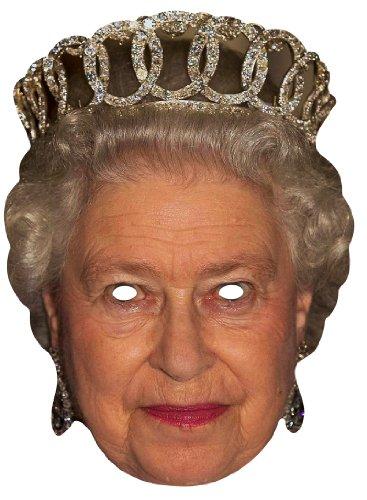 smaske Königin Elisabeth II. – bedruckte Pappmaske (Star Brille)