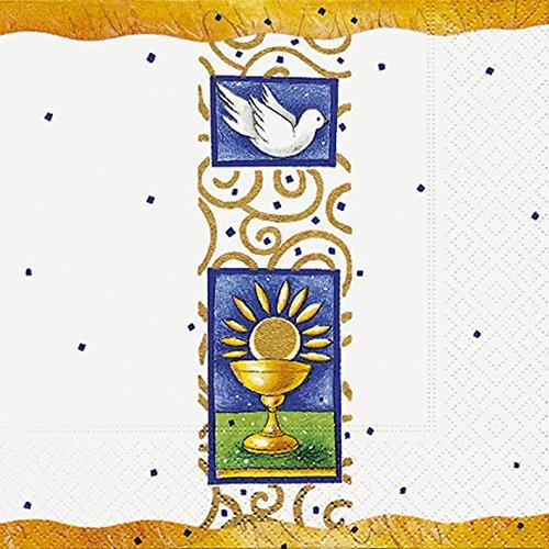 Servietten Konfirmation Kommunion Jugendweihe Taube Kelch Sonne 20 St. 3-lagig 33x33cm