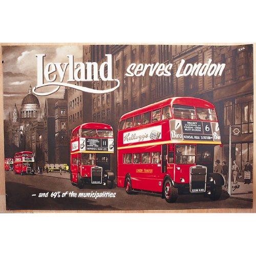 Robert opie nostalgic cartoline: leyland londra autobus a due piani