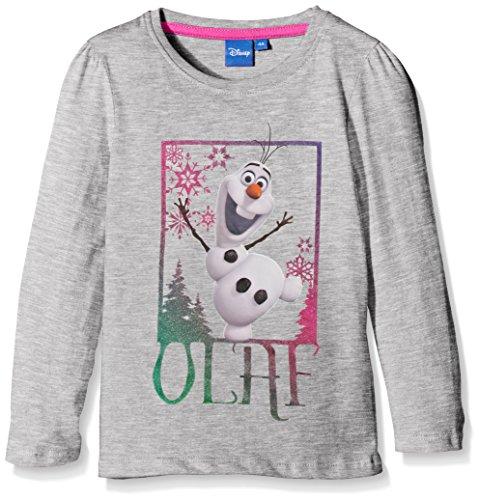 Disney Mädchen, T-Shirt, Frozen Olaf, GR. 116 (Herstellergröße: 6 Years), Grau (Grey)