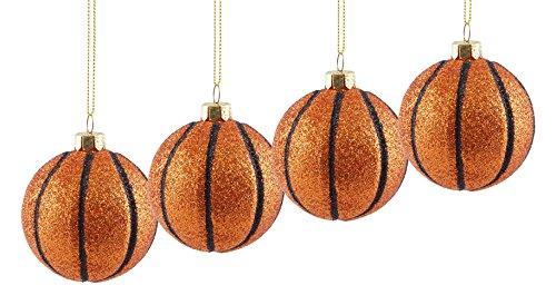 BASKETBALL SPORTS Hänger Weihnachten Ornaments-4Pack (Sport-ornamente, Weihnachten)