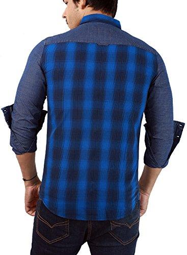 Rapphael-Full-Sleeve-Slim-fit-Blue-Checked-shirt-for-men