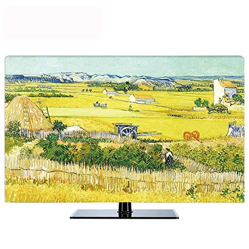 Preisvergleich Produktbild POP-TV-Abdeckung Staubschutz,  Abdeckung Typ 55-Zoll-65-LCD-TV-Staubschutz Tuch TV Stoff (Color : Yellow,  Size : 60in)
