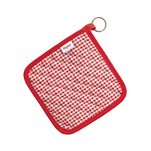 Rayen 6104.50 - Pack de 2 agarraderas, tejido anti-calórico, color rojo
