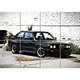 BMW E30 M3 SPORTS RALLY CAR KUNST NEU GIANT WALL POSTER PLAKAT DRUCK PRINT NEW G1313