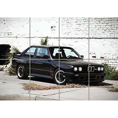 BMW E30 M3 SPORTS RALLY CAR KUNST NEU GIANT WALL POSTER PLAKAT DRUCK PRINT NEW G1313 -