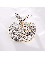 KUNQ Regalo Pareja/Regalo Navidad/Lindo Broche De Diamantes Moda Accesorios Broches Personalidad De La Moda Accesorios Pernos E
