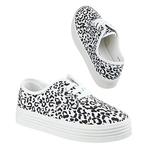 Damen Schuhe, LZ-02, FREIZEITSCHUHE Schwarz Weiß