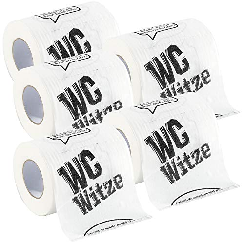 infactory Scherz-Klopapier: Toilettenpapier Witze, 5 Rollen (Witzige Toilettenpapier-Rollen)