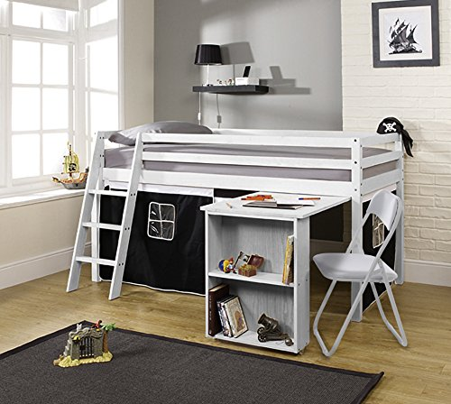 Noa and Nani - Midsleeper Cabin Bed with Desk and Pirate for sale  Delivered anywhere in UK
